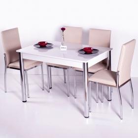 Favorite Mutfak 4 Sandalye Masa Takımı - Kapuçino - Kapiçino