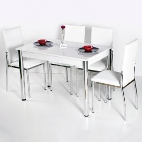 Favorite Mutfak 4 Sandalye Masa Takımı - Beyaz