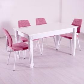 Lusso 4 Kişilik Salon Mutfak Masa Sandalye Takımı