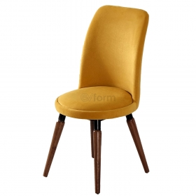 Stork Tay Tüyü Kumaş Sandalye Sarı - Sarı