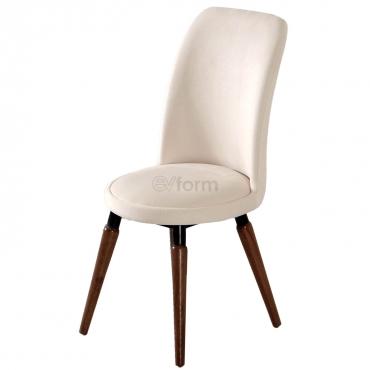 Stork Tay Tüyü Kumaş Sandalye Beyaz