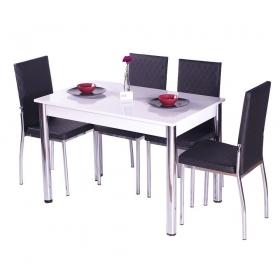 Favorite Mutfak 4 Sandalye Masa Takımı - Siyah