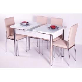 Favorite Mutfak 6 Sandalye Açılır Kelebek Masa Takımı - Kapuçino - Kapiçino