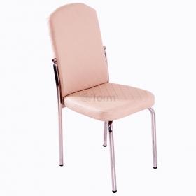 Platin Deri Döşeme Sandalye Kapuçino