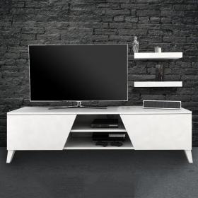 Tv Ünitesi Raf Hediyeli 150cm Long Televizyon Ünitesi - Beyaz
