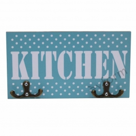 Kitchen Mavi Mutfak Havlu Askısı
