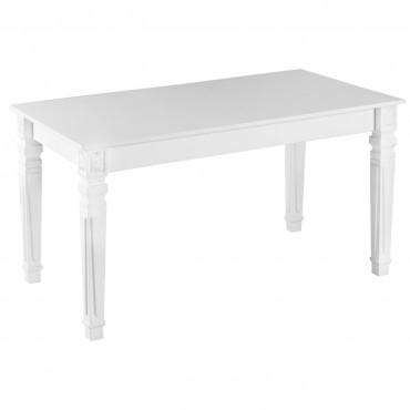 Evform Kare Ayaklı High Gloss Yemek Masası Mutfak Masa 140cm