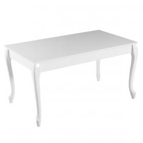 Evform High Gloss Lükens Yemek Masası Mutfak Masa 140cm