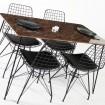 Zenit Mermer Desen Masa Sandalye Takımı 4 Kişilik