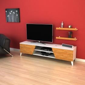Tv Ünitesi Raf Hediyeli 180cm Long Televizyon Sehpası - Bambu - Bambu