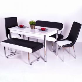 Evform Vega Banklı Masa Takımı Mutfak Masası Yemek Seti