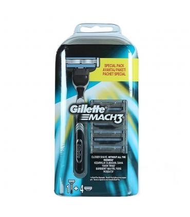 Gillette Mach3 Turbo Yedek Tıraş Bıçağı 4'lü + Tıraş Makinesi