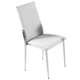 Favorite Deri Döşeme Hasır Desen Sandalye - Beyaz