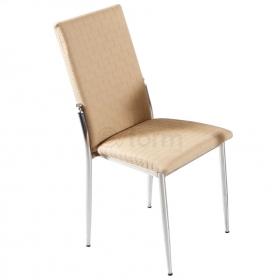 Favorite Deri Döşeme Hasır Desen Sandalye - Kapuçino