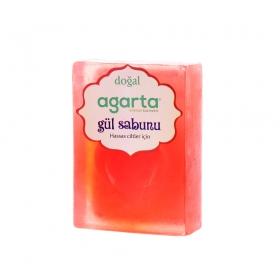 Agarta Gül Özlü Doğal El Yapımı Sabun 150 Gr