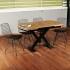 Galassia 4 Kişilik Tel Sandalyeli Ahşap Mutfak Yemek Masası Takımı