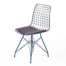 Wire Tel Kafes Sandalye Yeşil
