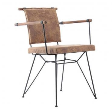 Mondego Tel Ayaklı Ahşap Kollu Penyes Sandalye