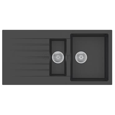 Ukinox Arya D 150 Siyah Tezgah Üstü Granit Eviye