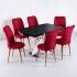 Parrot X Masa Taytüyü Sandalye 6 Kişilik Büyüyen Masa Takımı Kırmızı