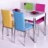 Favorite Mutfak 4 Sandalye Masa Takımı - Karışık Renkli