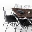 Zenit Mermer Desen Masa Sandalye Takımı 6 Kişilik