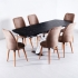 Parrot X Masa Taytüyü Sandalye 6 Kişilik Büyüyen Masa Takımı Kahve