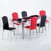 Evform Platin 6 Kişilik Deri Sandalye Açılır Mutfak Masa Takımı Prizma