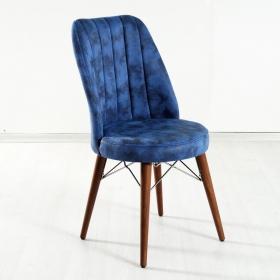 Yakut Ahşap Ayaklı Nubuk Kumaş Döşeme Sandalye