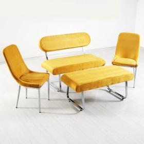 Taytüyü Bank Takımı Masasız - Renk Seçenekli - Sarı