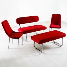Taytüyü Bank Takımı Masasız - Renk Seçenekli - Kırmızı