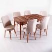 Evform Milla 6 Kişilik Açılır Mutfak Masa Sandalye Takımı