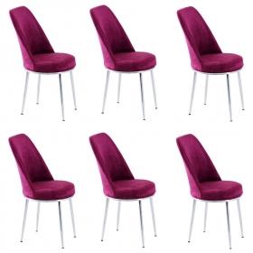 Tiviza 6 Adet Taytüyü Döşeme Mutfak Sandalye