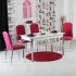 Minosa 4 Kadife Sandalye ve Masa Takımı - Fuşya