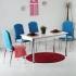 Minosa 4 Kadife Sandalye ve Masa Takımı - Turkuaz