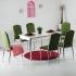 Minosa 6 Kadife Sandalye ve Masa Takımı - Yeşil