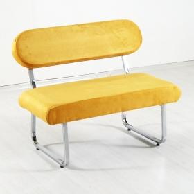 Taytüyü Kumaş Sırtlı Bank Bench - Sarı