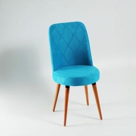 Elit Şato Ahşap Ayaklı Kumaş Döşeme Mutfak Sandalyesi