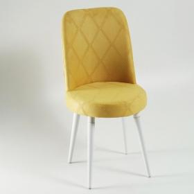 Elit Şato Lake Ayaklı Kumaş Döşeme Mutfak Sandalyesi - Sarı