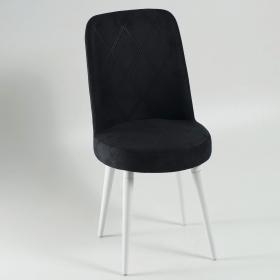 Elit Şato Lake Ayaklı Kumaş Döşeme Mutfak Sandalyesi - Siyah