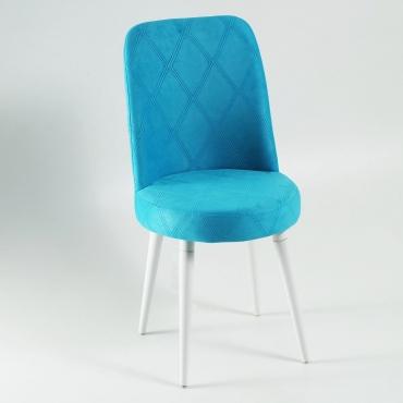 Elit Şato Lake Ayaklı Kumaş Döşeme Mutfak Sandalyesi