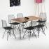 Wire Tel Kafes 6 Kişilik Tel Ayaklı Stork Masa Sandalye Takımı