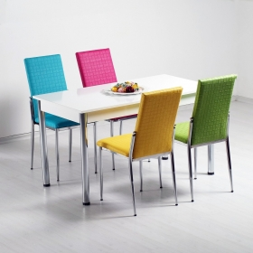 Favorite Hasır Desenli Mutfak 4 Sandalye Masa Takımı