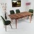 Evform Yakut 4 Kişilik Açılır Yemek Masa Sandalye Takımı