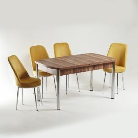 Baum 4 Kişilik Açılır Ahşap Masa Sandalye Takımı