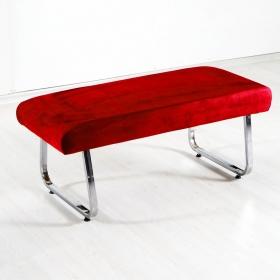 Taytüyü Kumaş Sırtsız Bank Bench - Kırmızı