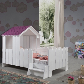 Tek Kişilik Montessori Ev Çocuk Karyolası