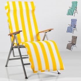 Döşemeli Balkon Plaj Bahçe İçin Katlanır Şezlong Sandalye Renk Seçenekli
