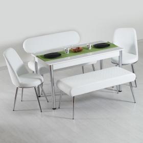 Vega Bank Takımı Mutfak Yemek Masası Takımı 6 Kişilik
