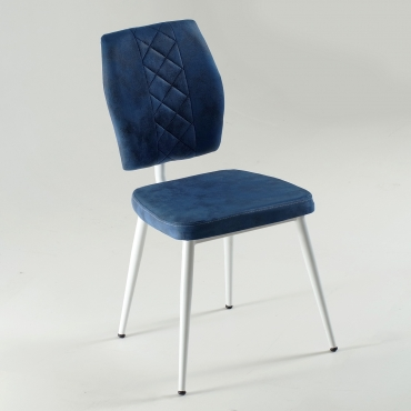 Vals Beyaz Ayaklı Kumaş Döşeme Mutfak Sandalyesi